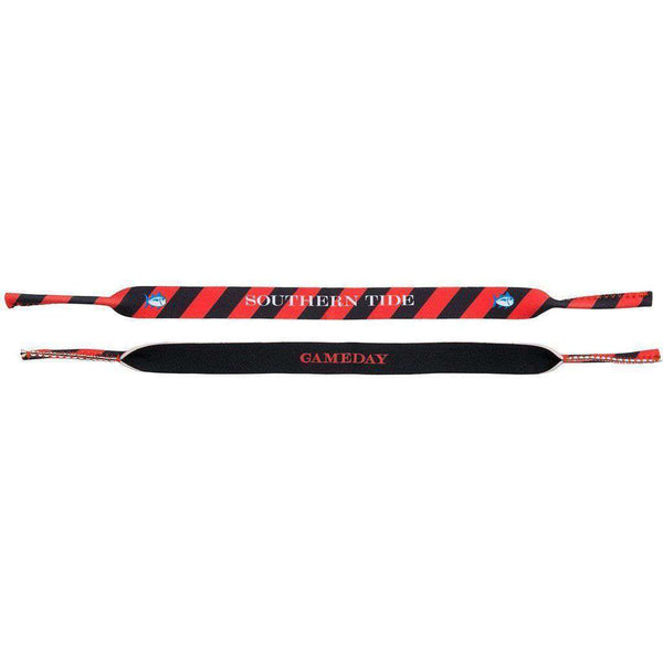 Collegiate Sunglass Straps in Red & Black by Southern Tide