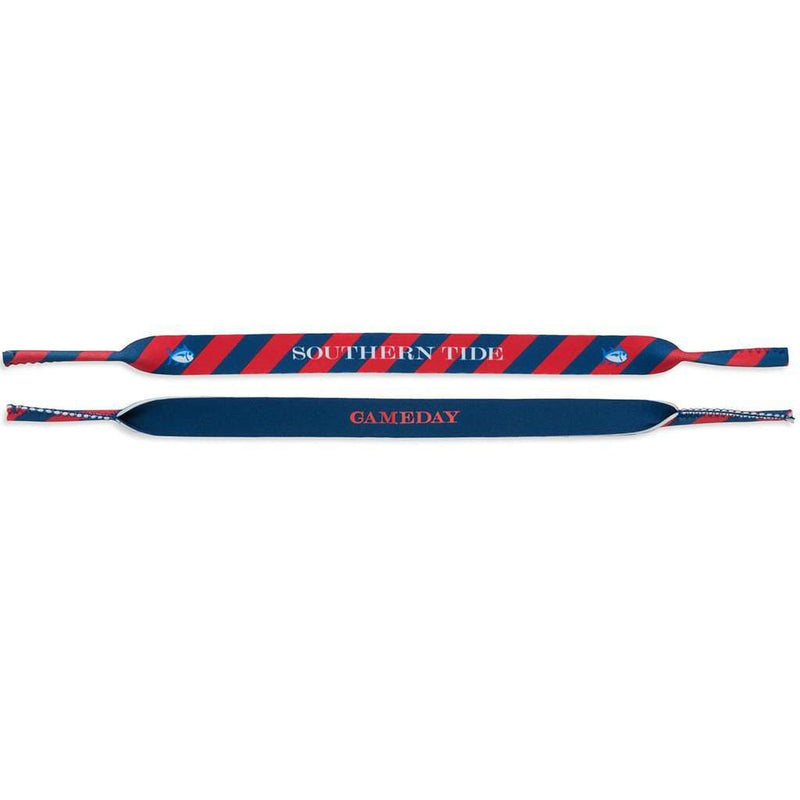 Gameday Sunglass Straps in Navy and Varsity Red by Southern Tide
