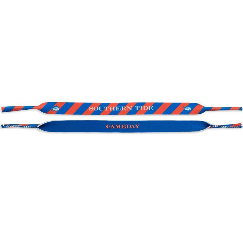 Gameday Sunglass Straps in University Blue and Endzone Orange by Southern Tide