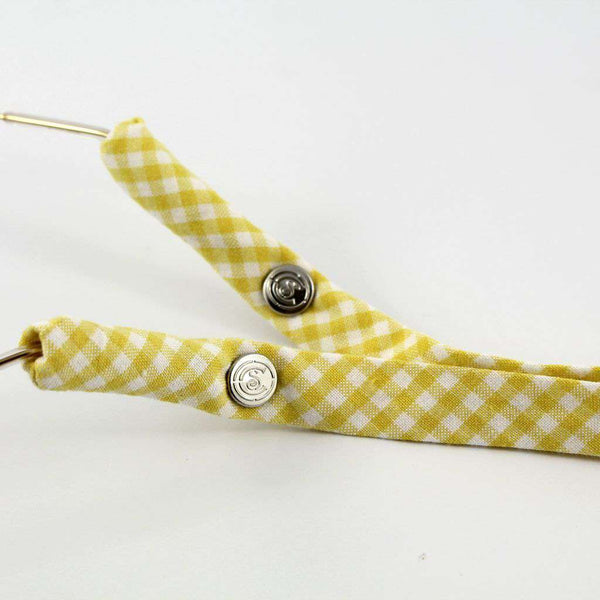 Sunglass Straps - Generation 2.0 Gingham Sunglass Straps In Yellow By CottonSnaps