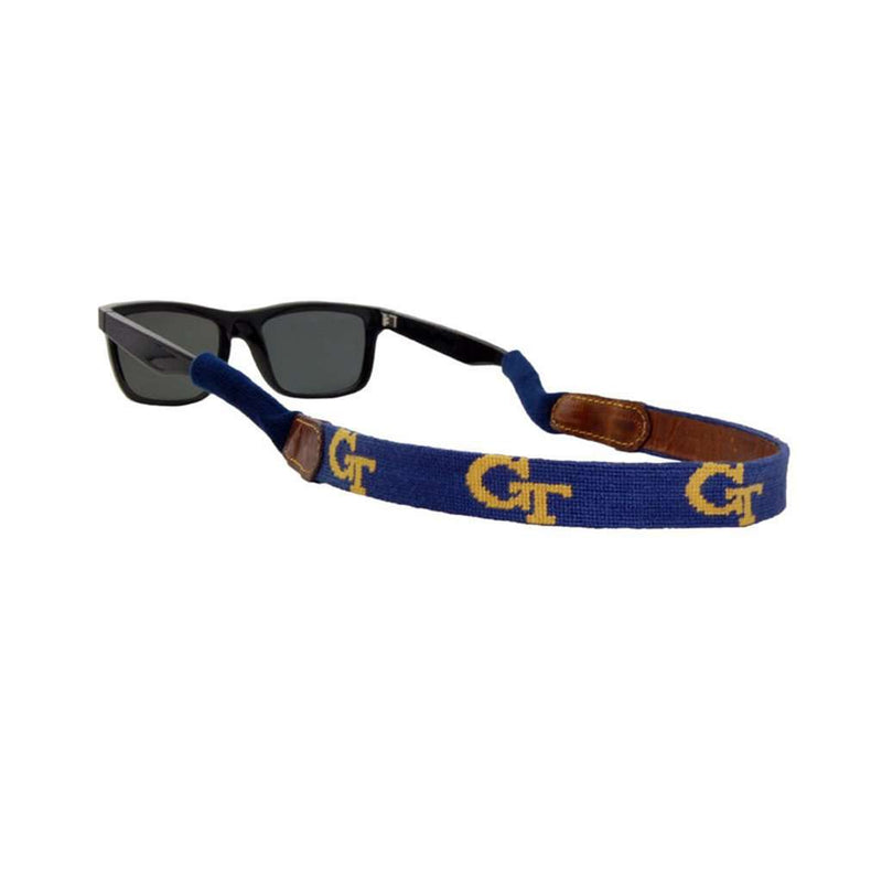Sunglass Straps - Georgia Tech Needlepoint Sunglass Straps By Smathers & Branson