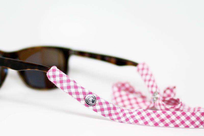 Sunglass Straps - Gingham Generation 2.0 Sunglass Straps In Pink By CottonSnaps