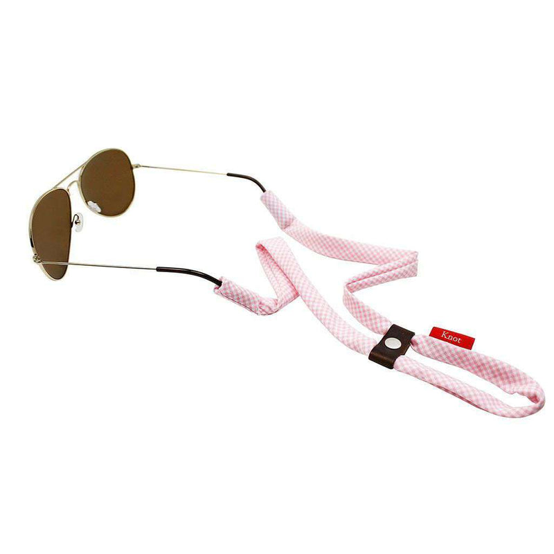 Sunglass Straps - Gingham Sunglass Straps In Light Pink By Knot Clothing & Belt Co.