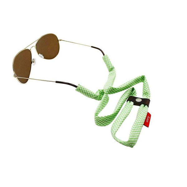 Sunglass Straps - Gingham Sunglass Straps In Lime Green By Knot Clothing & Belt Co.