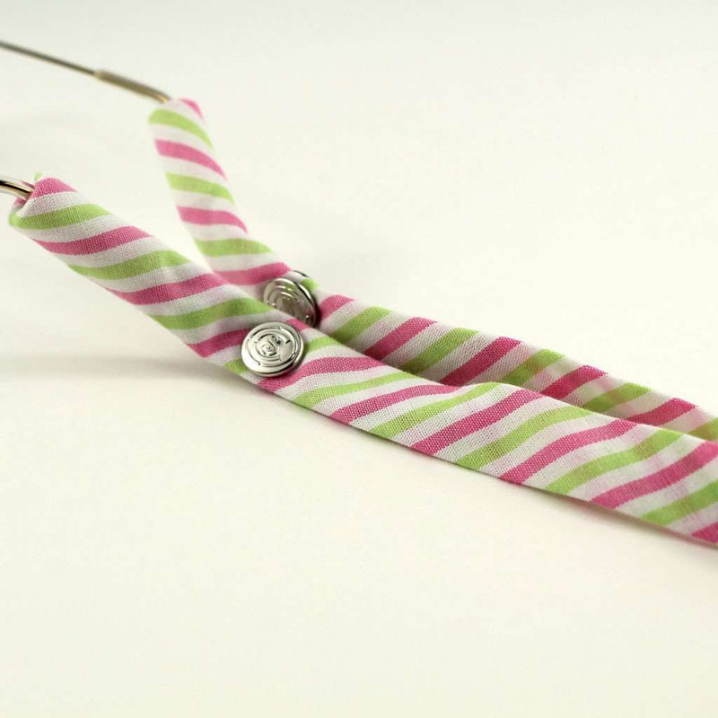 Sunglass Straps - Limited Edition Pink And Green Stripes Sunglass Straps By CottonSnaps