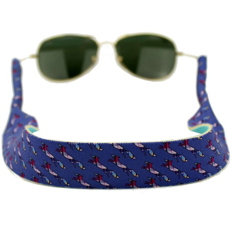 Sunglass Straps - Longshanks Neoprene Sunglass Straps In Blue By Country Club Prep