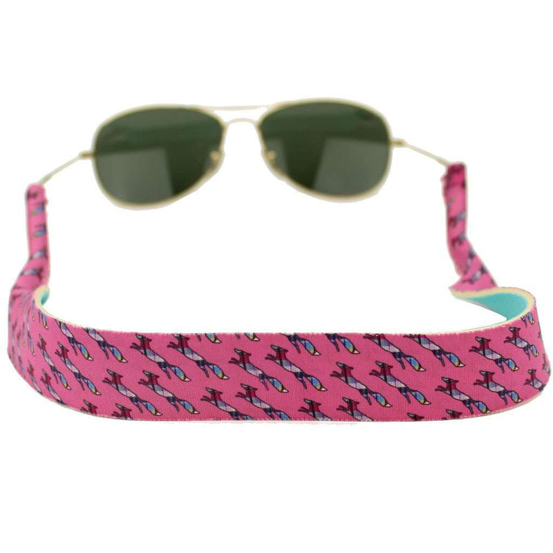 Longshanks Neoprene Sunglass Straps in Pink by Country Club Prep