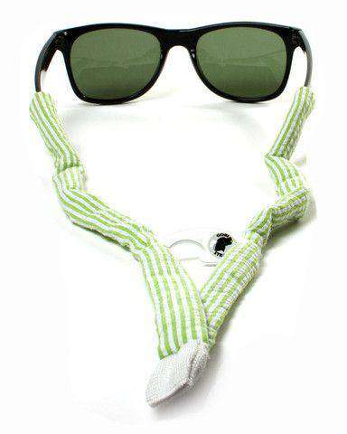 Mint Green Seersucker Bottle Opener Sunglass Straps by Gobi Straps - FINAL SALE
