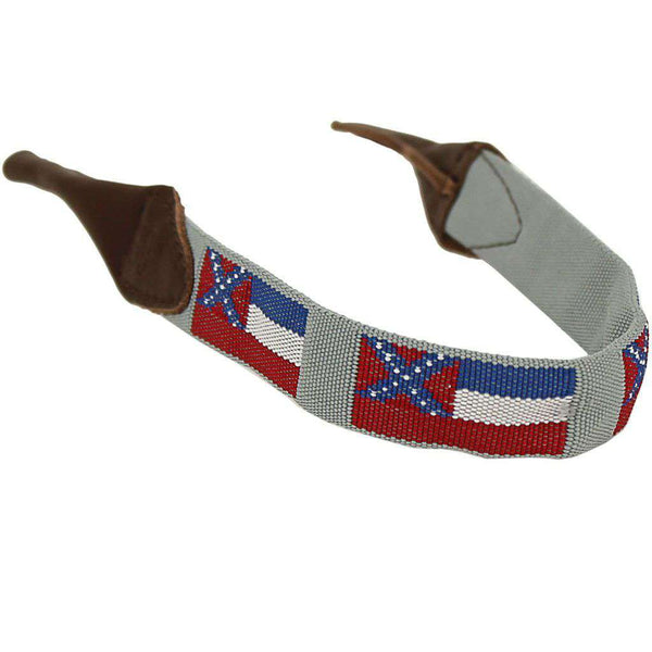 Sunglass Straps - Mississippi Needlepoint Sunglass Strap By 39th Parallel