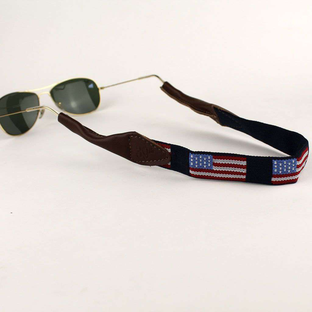 Sunglass Straps - Old Glory Needlepoint Sunglass Strap By 39th Parallel