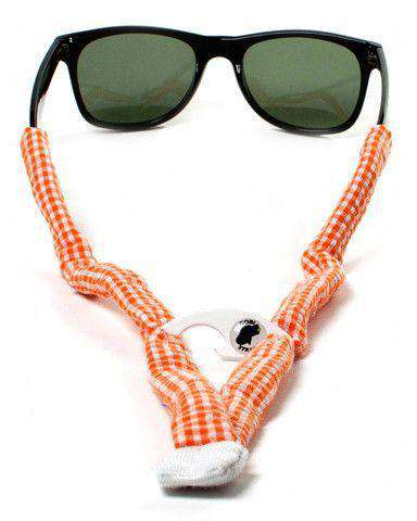 Sunglass Straps - Orange Seersucker Bottle Opener Sunglass Straps By Gobi Straps