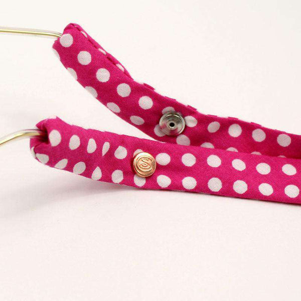 Pink Polka Dot Sunglass Straps by CottonSnaps