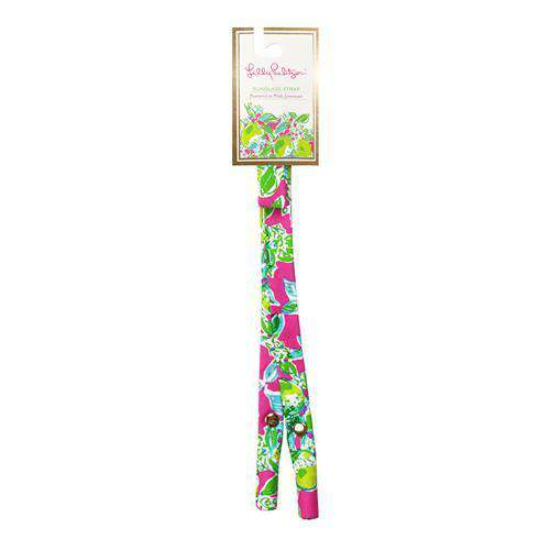 Sunglass Straps - Premium Cotton Sunglass Straps In Pink Lemonade By Lilly Pulitzer - FINAL SALE