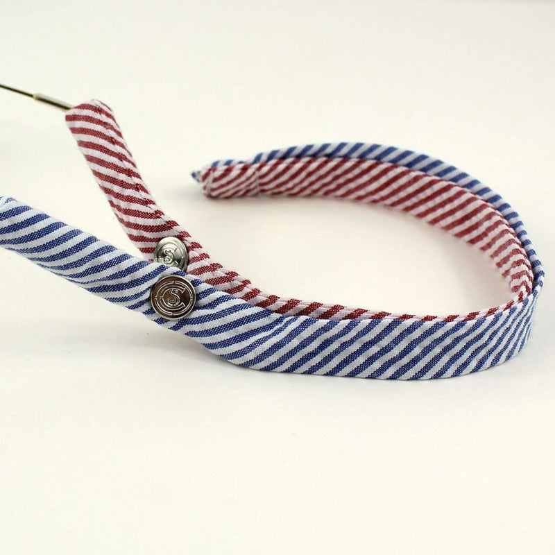 Red and Blue Blood USA Seersucker Mix Sunglass Straps by Cottonsnaps