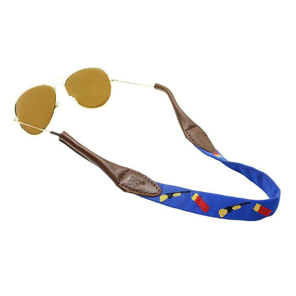 Sunglass Straps - Shotguns And Shells Sunglass Straps In Blue By 39th Parallel