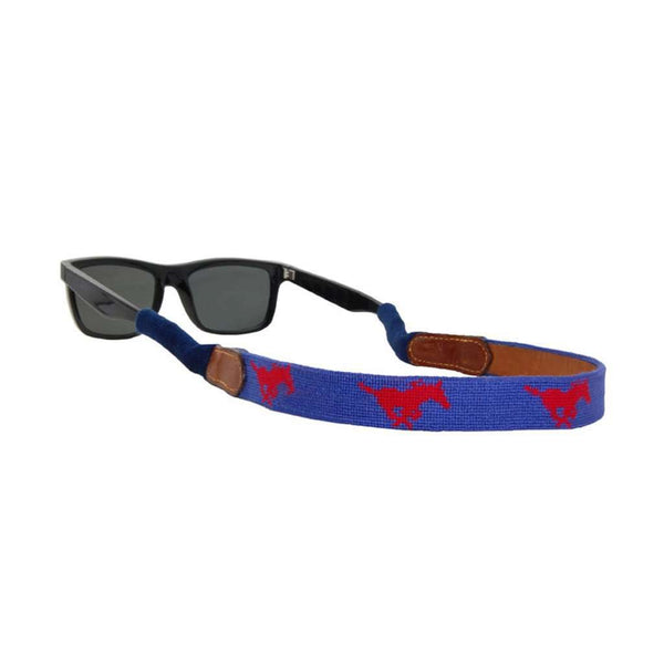 Southern Methodist University Needlepoint Sunglass Straps by Smathers & Branson