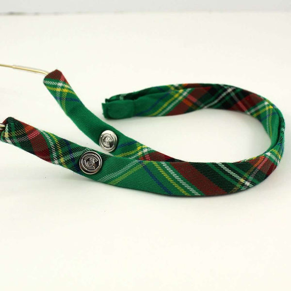 Summer Plaid Generation 2.0 Sunglass Straps in Green and Red Plaid by CottonSnaps