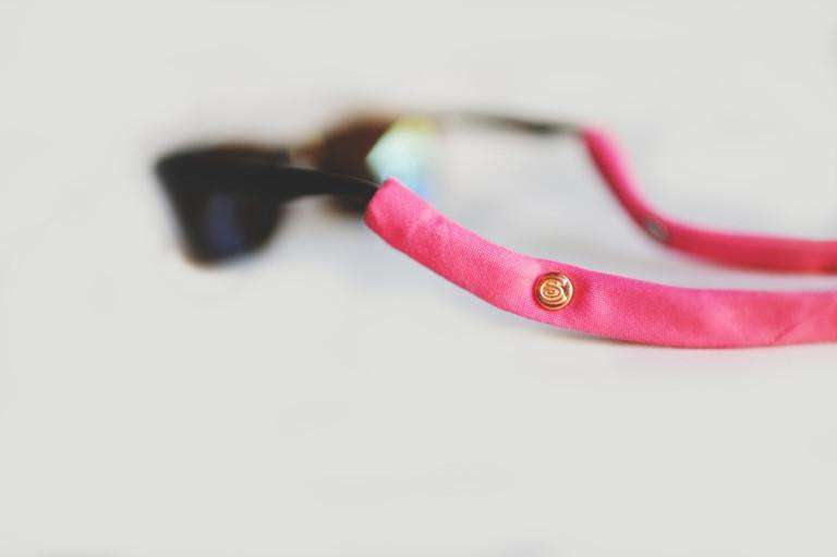 Sunglass Straps - Sunglass Straps In Hot Pink By CottonSnaps