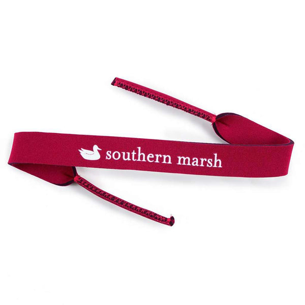 Sunglass Straps in Maroon by Southern Marsh