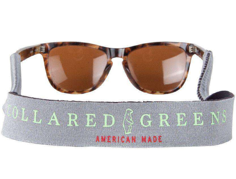 Sunglass Straps in Silver by Collared Greens