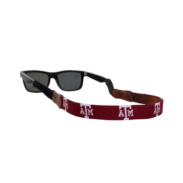 Sunglass Straps - Texas A&M Needlepoint Sunglass Straps By Smathers & Branson
