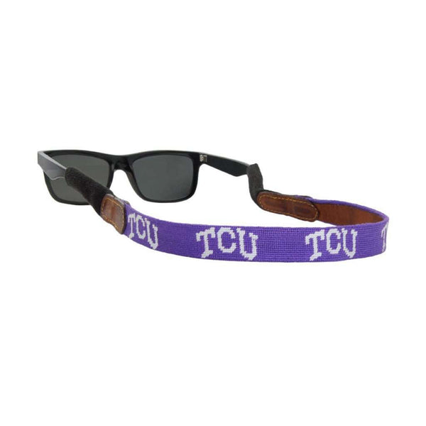 Texas Christian University Needlepoint Sunglass Straps by Smathers & Branson