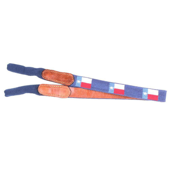 Sunglass Straps - Texas Flag Needlepoint Sunglass Straps By Smathers & Branson