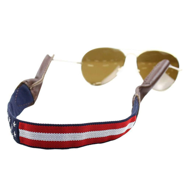 Sunglass Straps - Uncle Sam Needlepoint Sunglass Strap By 39th Parallel