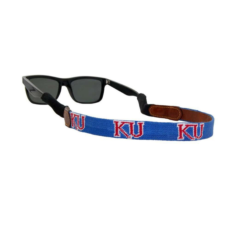 University of Kansas Needlepoint Sunglass Straps by Smathers & Branson