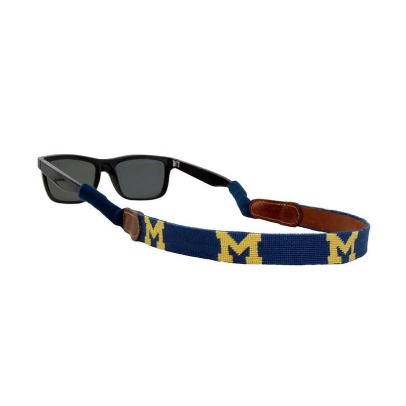 University of Michigan Needlepoint Sunglass Straps by Smathers & Branson