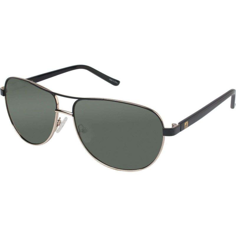 Sunglasses - Bayside Polarized Sunglasses In Gunmetal And Navy By Sperry