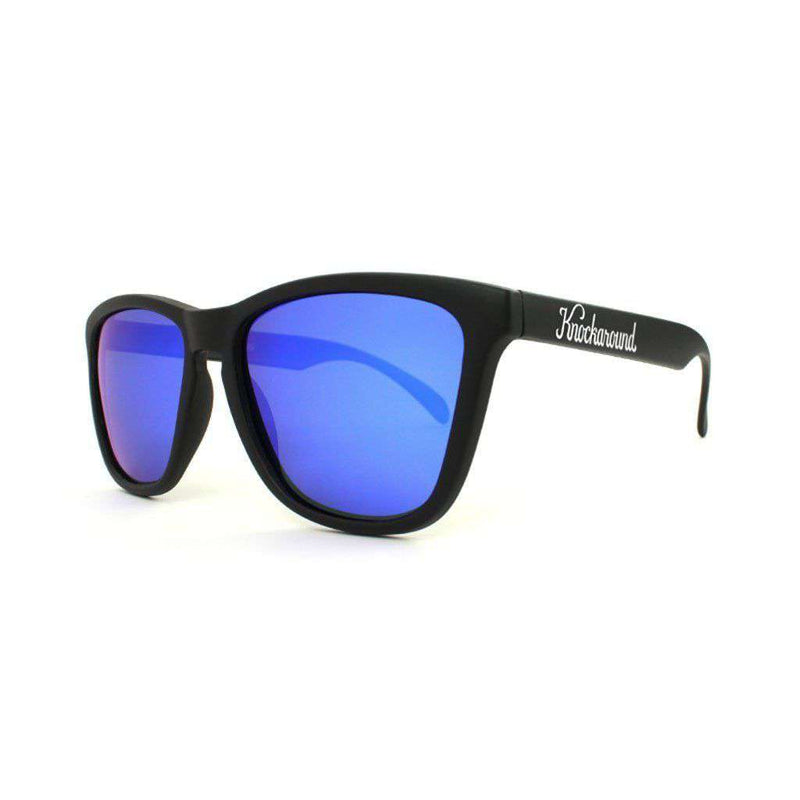 Black Classic Sunglasses with Polarized Moonshine Lenses by Knockaround