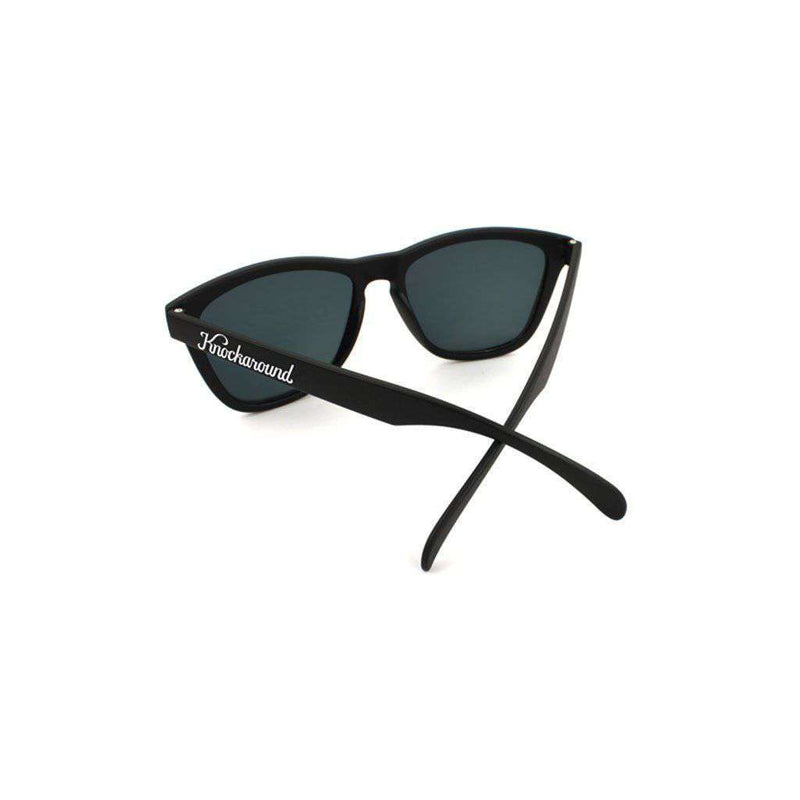 Black Classic Sunglasses with Polarized Sunset Lenses by Knockaround