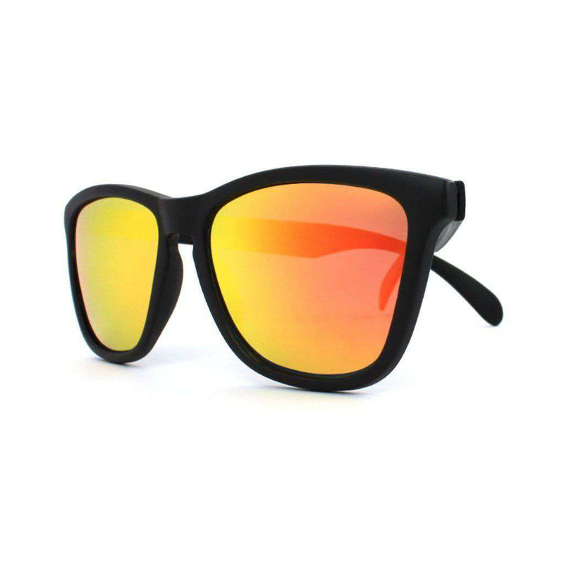 Sunglasses - Black Classic Sunglasses With Polarized Sunset Lenses By Knockaround