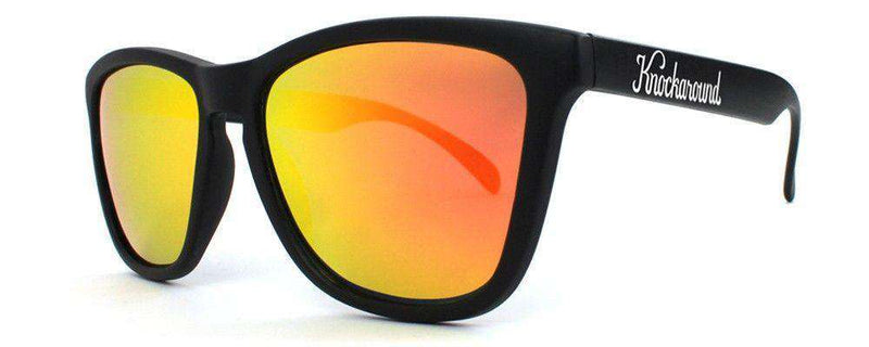 Sunglasses - Black Premium Sunglasses With Polarized Sunset Lenses By Knockaround