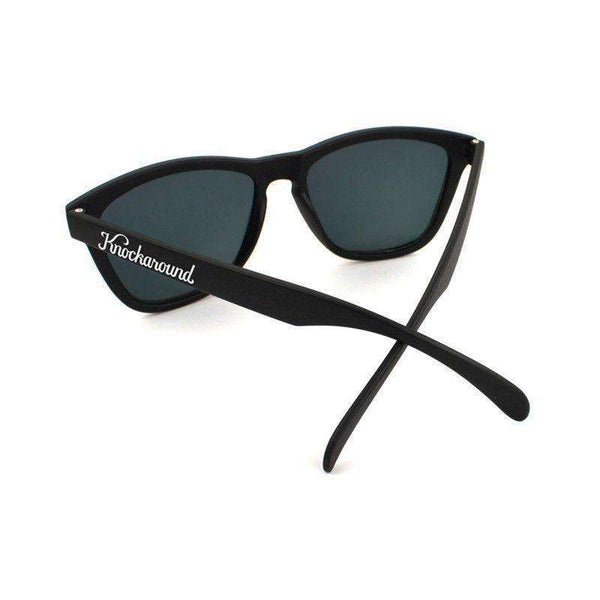 Black Premium Sunglasses with Polarized Sunset Lenses by Knockaround