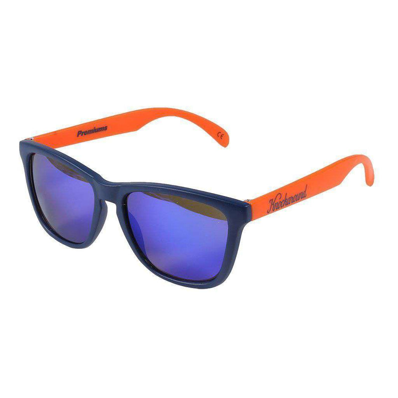 Blue and Orange Classic Sunglasses with Polarized Moonshine Lenses by Knockaround