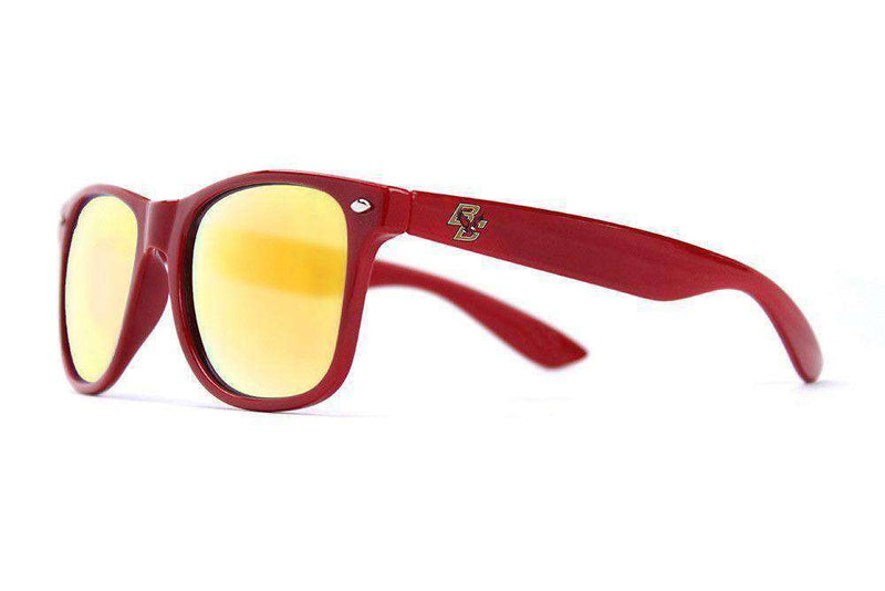 Sunglasses - Boston College Throwback Sunglasses In Maroon By Society43