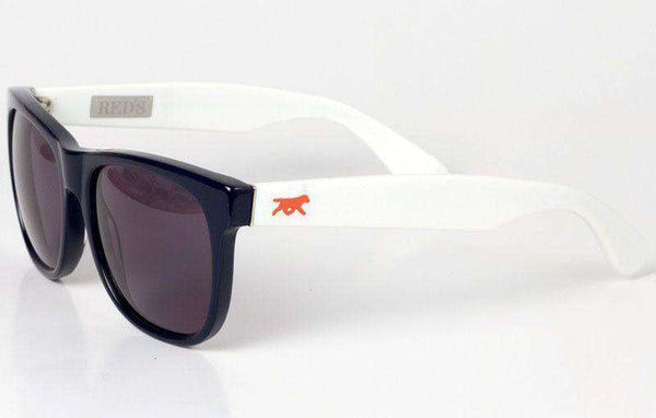 Bradley Sunglasses Navy and White by Red's Outfitters