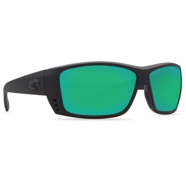 Sunglasses - Cat Cay Blackout Sunglasses With Green Mirror 580P Lenses By Costa Del Mar