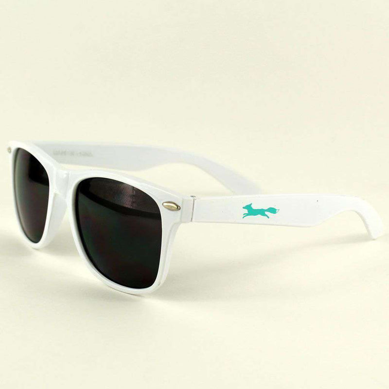 "Sunglasses - Country Club Prep ""Longshanks"" Sunglasses In White"