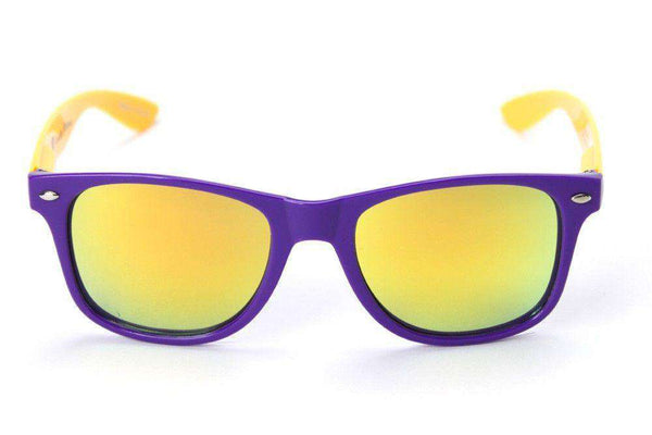 Sunglasses - East Carolina Throwback Sunglasses In Purple And Gold By Society43