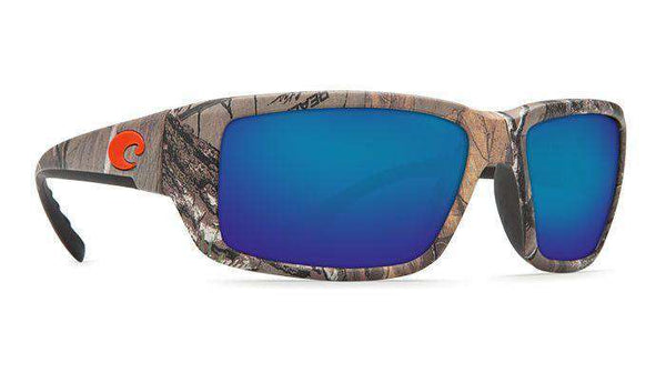 Sunglasses - Fantail Realtree XTRA Sunglasses With Blue Mirror 580P Lenses By Costa Del Mar