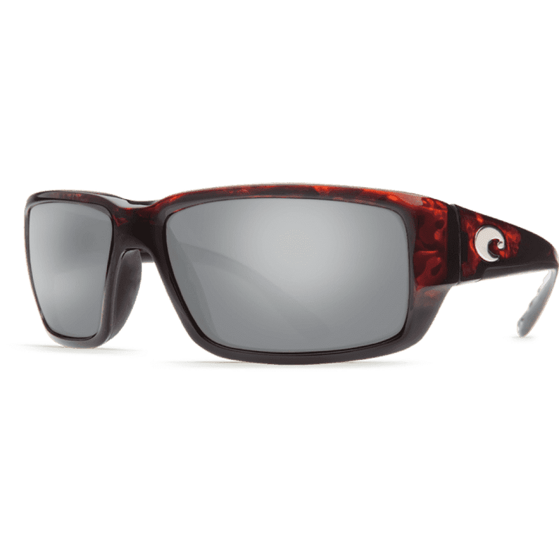 Sunglasses - Fantail Tortoise Shell Sunglasses With Silver Mirror 580P Lenses By Costa Del Mar
