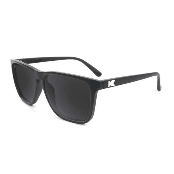 Fast Lane Matte Black Sunglasses with Smoke Lenses by Knockaround