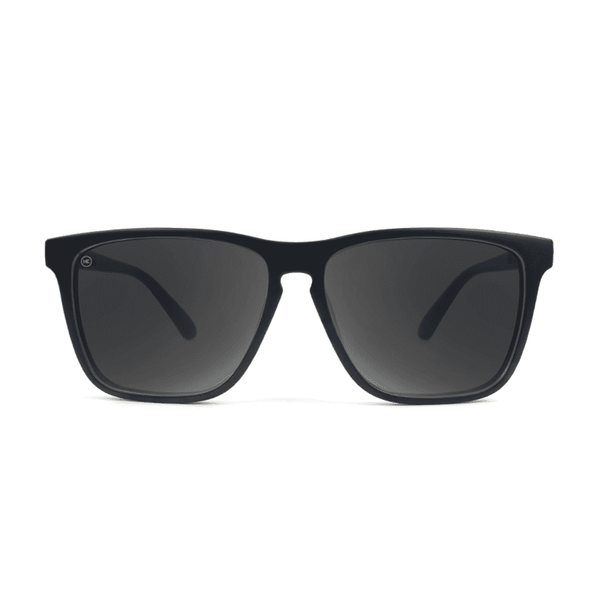 Sunglasses - Fast Lane Matte Black Sunglasses With Smoke Lenses By Knockaround