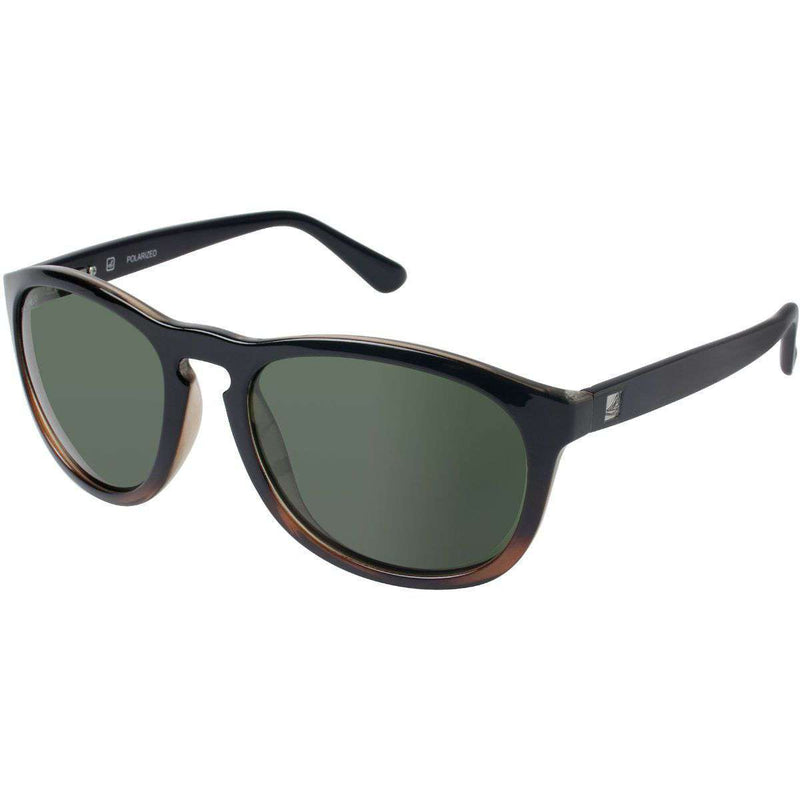 Fenwick Polarized Sunglasses in Black and Tortoise Fade by Sperry