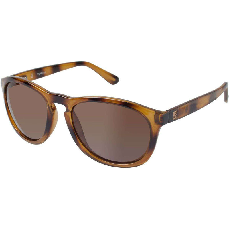 Sunglasses - Fenwick Polarized Sunglasses In Brown And Tortoise Fade By Sperry
