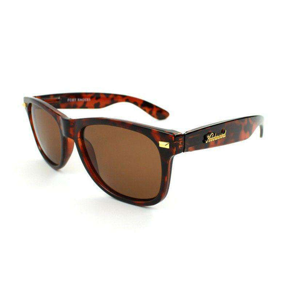 Fort Knocks Sunglasses in Tortoise Shell with Amber Lenses by Knockaround