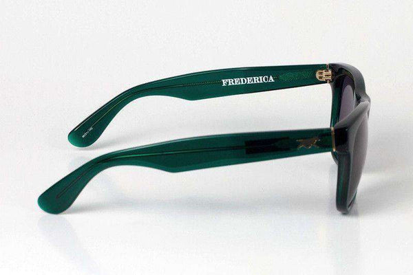 Frederica Sunglasses in Green by Red's Outfitters